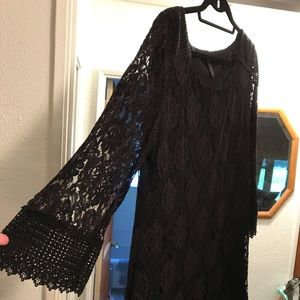 Black lace dress mini